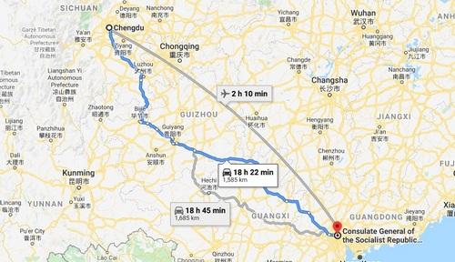 Chengdu to Guangzhou