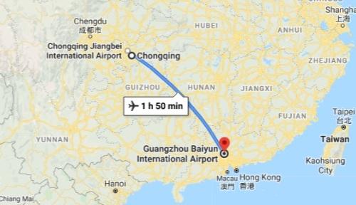 Chongqing to Guangzhou