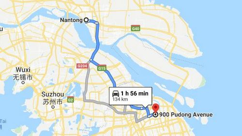 Nantong to the Vietnamese Embassy in Shanghai