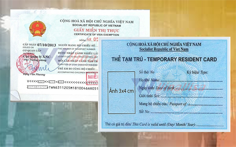 Vietnam Temporary Residence Card for related foreigners
