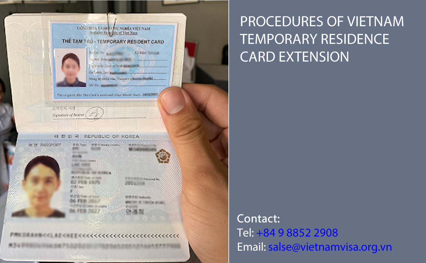 Procedures of Vietnam temporary residence card extension